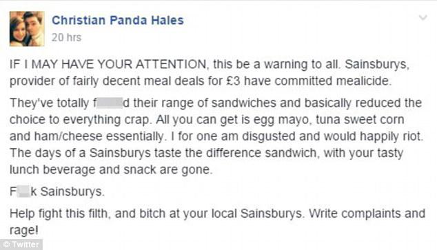 Gasp blog sainsburys twitter rant