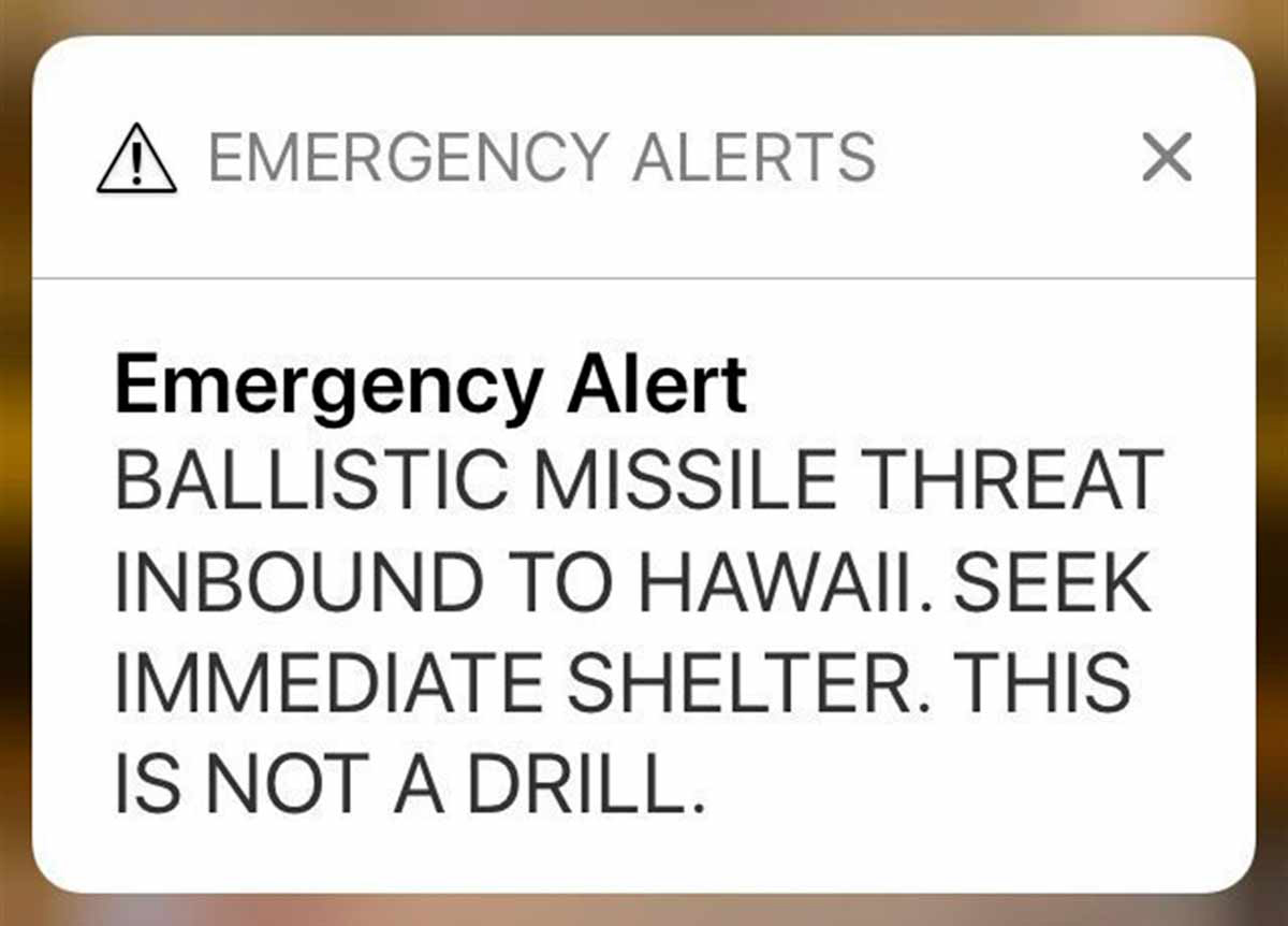Gasp blog hawaii warning sms