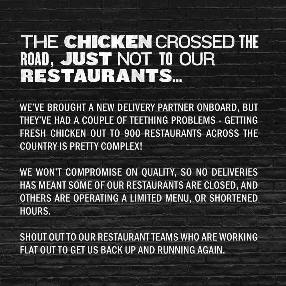 Gasp blog kfc apology copy
