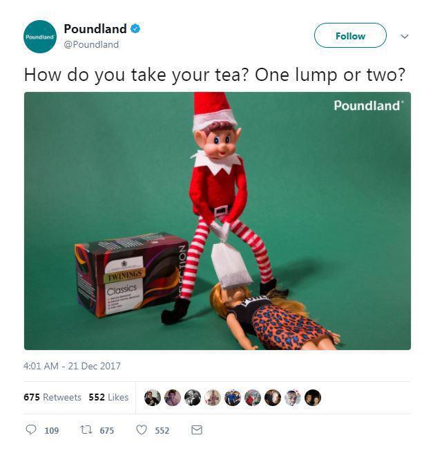Gasp blog poundland tweet