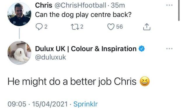 Dulux Tweet