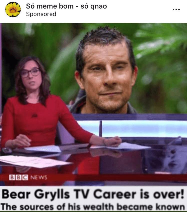 Bear grylls instagram ad