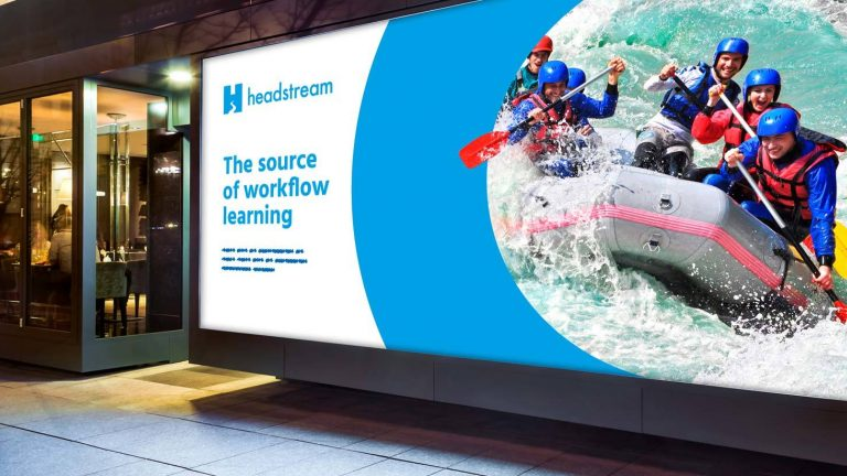 Learning pool headstream brand identity header